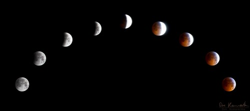 complete lunar eclipse from beginning to end