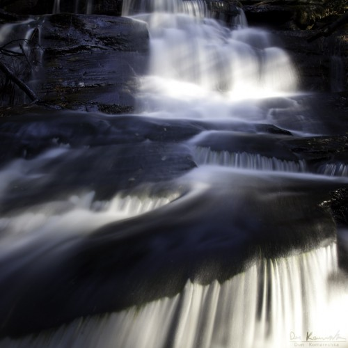water flowing down a waterfall in Ontario
